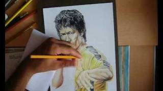 Bruce Lee ( With Color Pencil ) - Speed Drawing