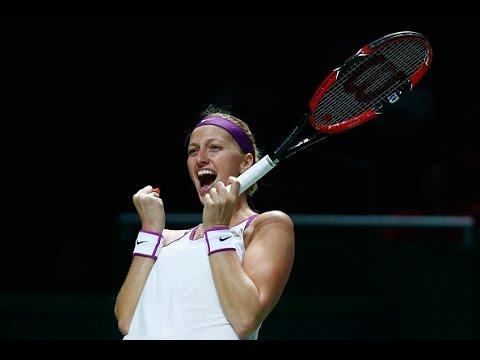 Petra Kvitova vs Maria Sharapova Semifinals | 2015 WTA Finals Highlights