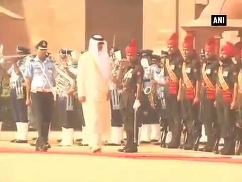 Qatar Emir accorded ceremonial reception at Rashtrapati Bhavan