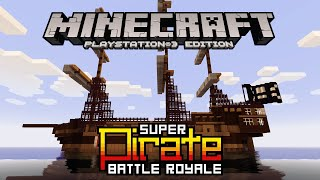 Minecraft PS3 Super Pirate Battleship Royal Minigame (FUNNY!)