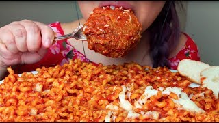 ASMR GIANT MEATBALL & FUSILLI PASTA Noodles 먹방 Eating Sounds *No Talking* suellASMR