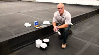 550 Patch-n-Go Self Sealing Butyl Tape repairs on EPDM Roof