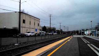 Amtrak Trains Traveling Non-Stop through Edmonds Station with One Blowing Airhose 01/14/2014