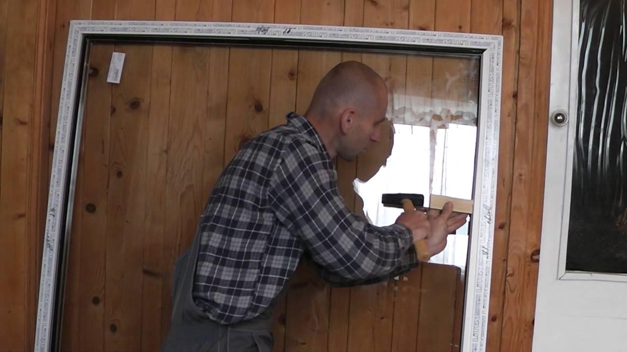 Как снять стекло из пластикового окна своими руками 881