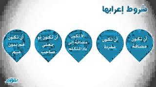 وإعرابها لغة عربية للصف السادس ترم 2