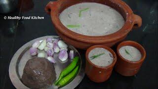Ragi Kali Recipe-Finger Millet Koozh-Ragi Mudde-Kezhvaragu Kali By Healthy Food Kitchen