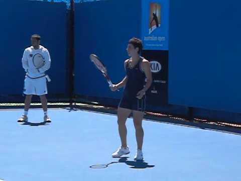 Carla Suarez Navarro Backhand Slow Motion