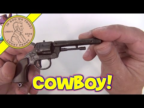 Cowboy 6 Shooter Revolver Single Cap Gun - 6 Die Cast Toy Gun Collection