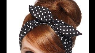Como Fazer uma Bandana Pin Up ou Headband