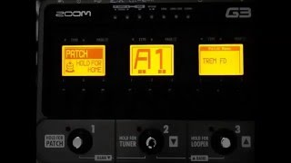 ZOOM G3 Preset List Review