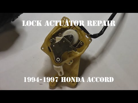How to install replace front door lock actuator honda for 05 honda accord door lock actuator