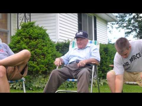 My 91 Year Old Grandpa Telling A Story. video