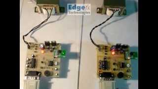 Wireless Message Communication Between Two Computers | 8051 Projects