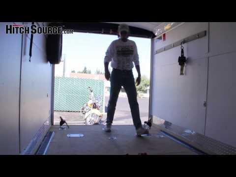 Lock-N-Load Motorcycle Wheel Chocks and Tie Down System
