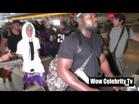 Justin Bieber Leaving LAX Airport