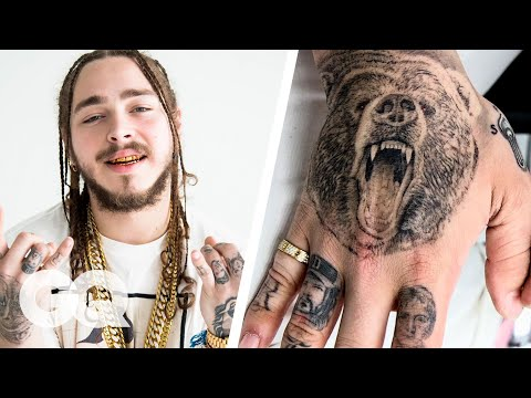 Post Malone Explains His Ink   Tattoo Tour   GQ