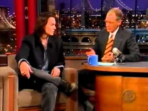 johnny depp on letterman show 1999