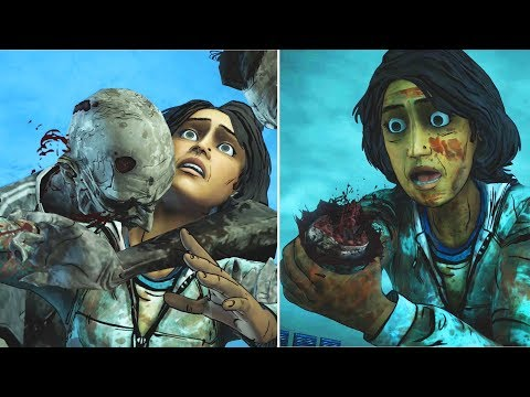 Clem Chops Sarita Arm vs Kills the Walker -All Choices- The Walking Dead