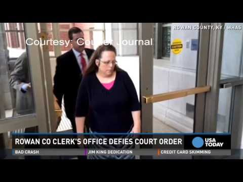 KY clerk defies order to issue gay marriage licenses