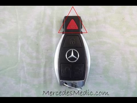 Mercedes Key Fob Battery Change Replacement Chrome Key by MercedesMedic.com Chrome Triangle Panic