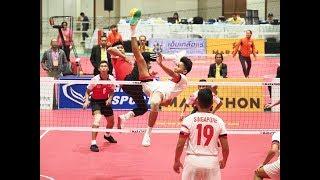 Sepak Takraw | 32nd King's Cup 2017 | Men's Quadrant - Final | Malaysia VS Singapore - Set 1