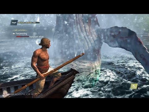 Assassin's Creed IV: Black Flag - Humpback Whale Harpooning AC4 Gameplay