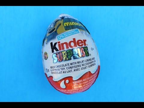 Minions Kinder Surprise Egg Opening 小黄人健达奇趣蛋