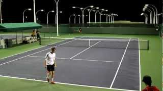 Andy Murray Practicing Serves 2012 BNP Paribas Open in HD