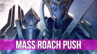 StarCraft 2: Legacy of the Void - MASS Roach Timing Push vs Protoss!