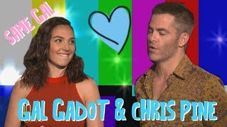 GAL GADOT'S LIP BITE WHILE LOOKING AT CHRIS PINE