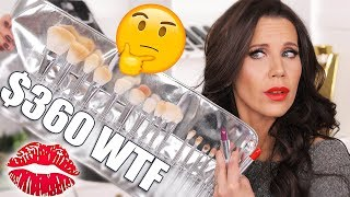 I SPENT $500 on KYLIE BRUSHES & LIPSTICKS | Try on Review