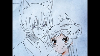 How to draw Tomoe and Nanami (Valentines special) Kamisama Kiss