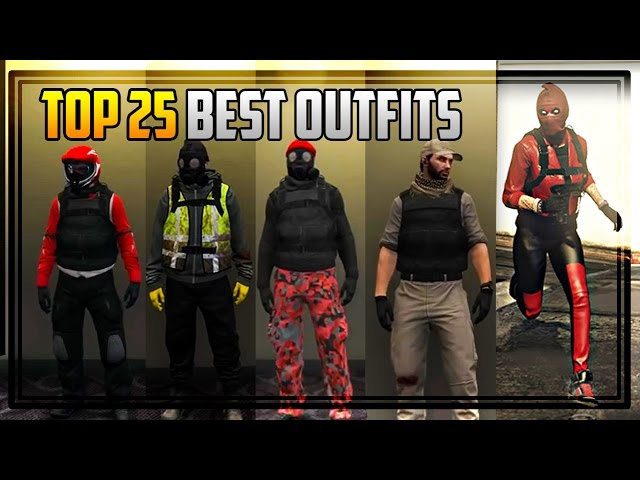 TOP 25 BEST OUTFITS IN GTA ONLINE! - GTA 5 cool outfits