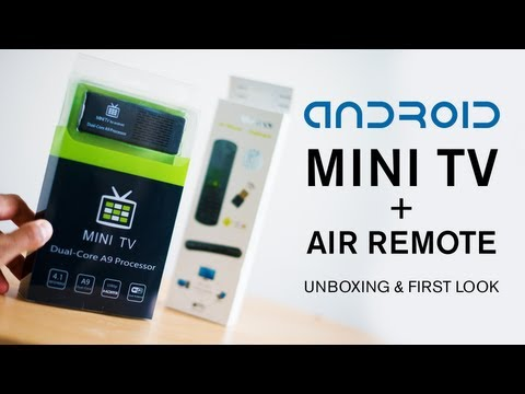 Android Mini TV + Air Remote - Unboxing and First look