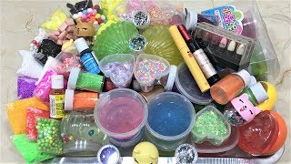 MIXING ALL MY INGREDIENTS INTO CLEAR SLIME!! SLIMESMOOTHIE! SATISFYING SLIME VIDEO PART 25 !