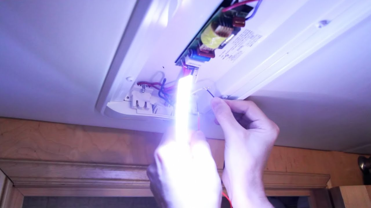 How To Convert Fluorescent Rv Lights To Leds Youtube