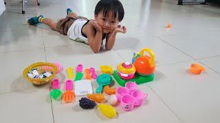 Trò Chơi Bé Tin Bán Quán Ăn Và Tập Làm Đầu Bếp - Kids Toy Media