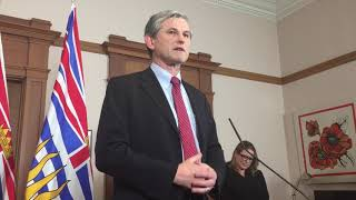 BC Liberal leader Andrew Wilkinson speaks about the NDP government throne speech Feb. 12, 2019.