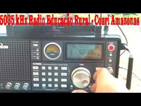 5035 kHz Radio Educação Rural de Coari , Coari , Amazonas , Brazil