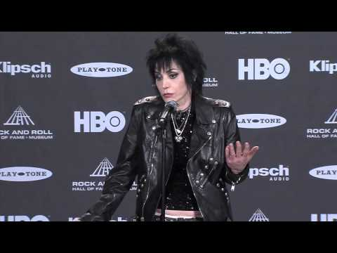 Backstage with Joan Jett at the Rock and Roll Hall of Fame Inductions 2015