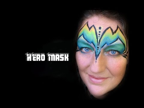 Hero Mask Step by Step Slide Show Face Painting Tutorial