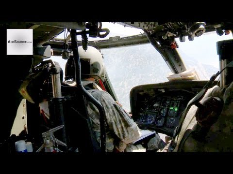 UH-60L Blackhawk Cockpit View- Utah Army Nationial Guard Aerial Firefighting