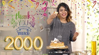 THANK YOU 2000 SUBSCRIBERS | BEHIND THE TASTE