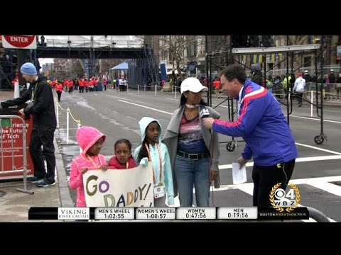 'Go Daddy!': Defending Boston Marathon Champion Meb Keflezighi's Family Nervously Cheers Him on
