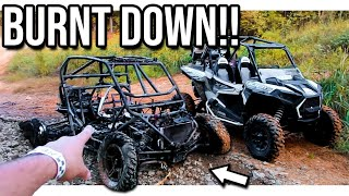 Polaris RZR CATCHES ON FIRE!