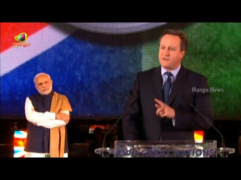 David Cameron Speech At Wembley Staidum | Modi At Wembley | Mango News