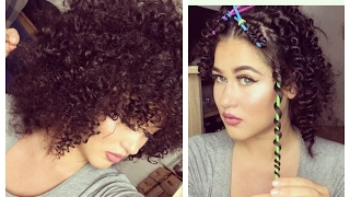 DIY Heatless Curls with Straws I Afro Locken mit Strohhalmen OHNE HITZE I Marina Si
