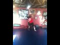 Richard batin training 11 year old Brendan Miller muay thai
