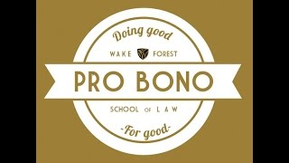 Thumbnail from video named Wake Forest University Law School Pro Bono Project