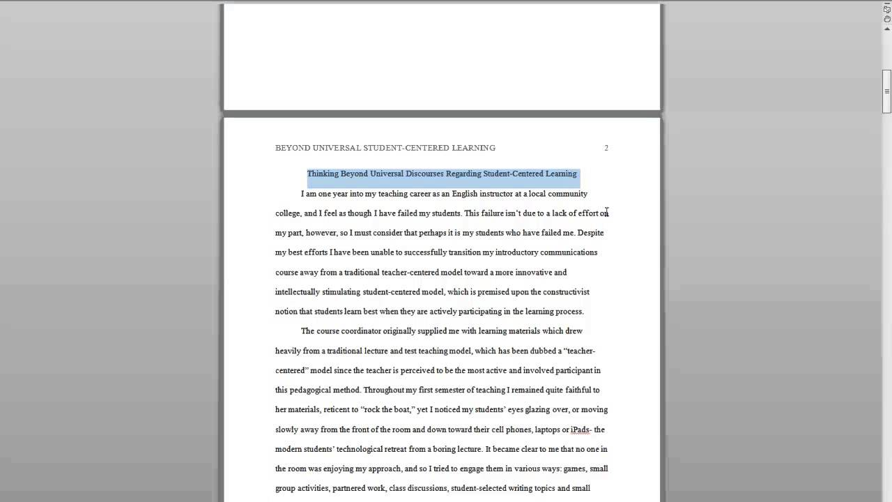 concluding paragraphs in essay writing barry whitney resume     Adomus OWL APA Sample Paper